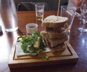 Cross Keys fishfinger sandwich