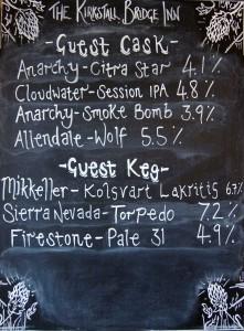 Kirkstall cask list