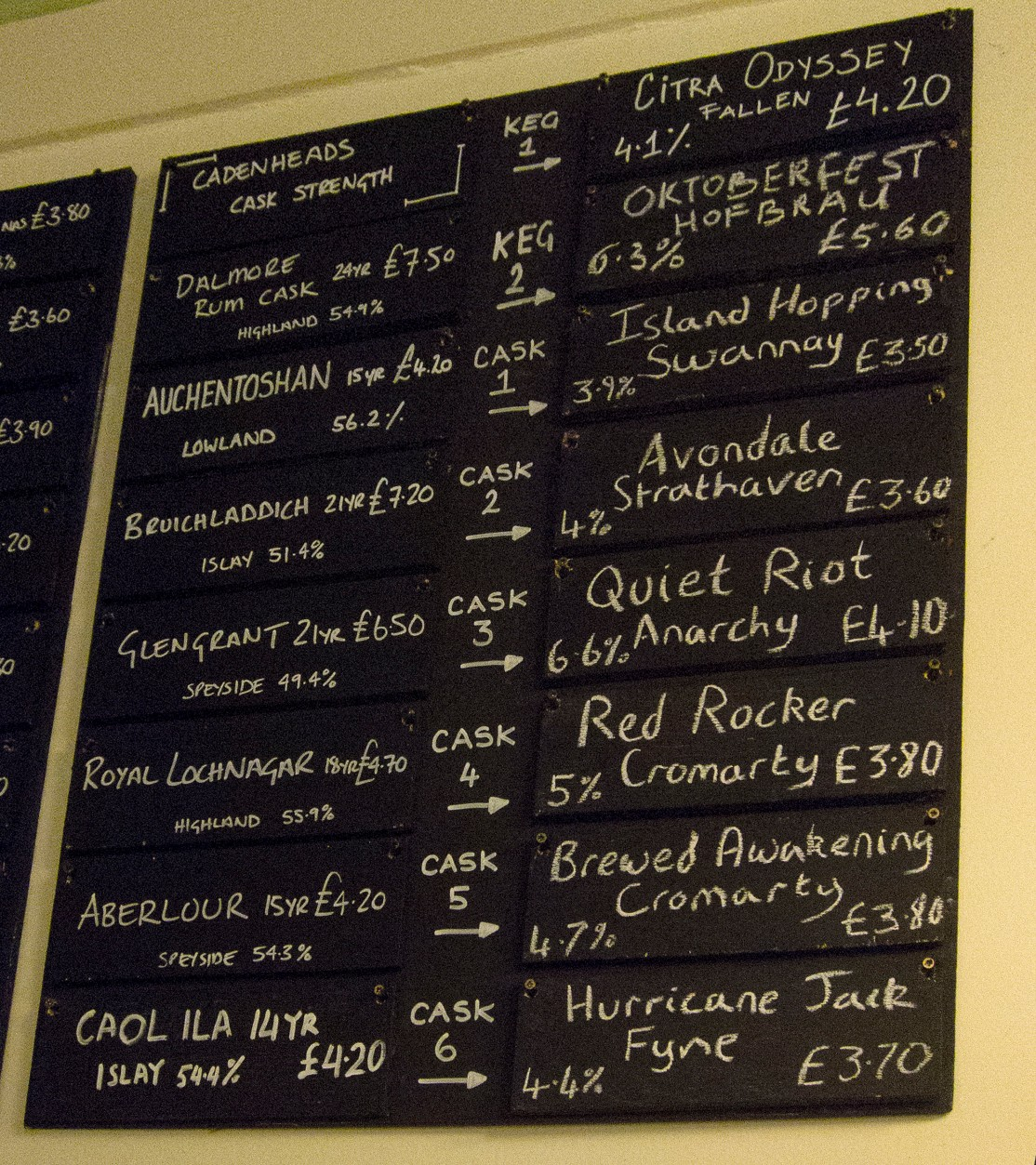 Abbotsford tap list