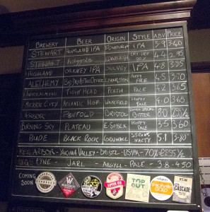 Cloisters tap list