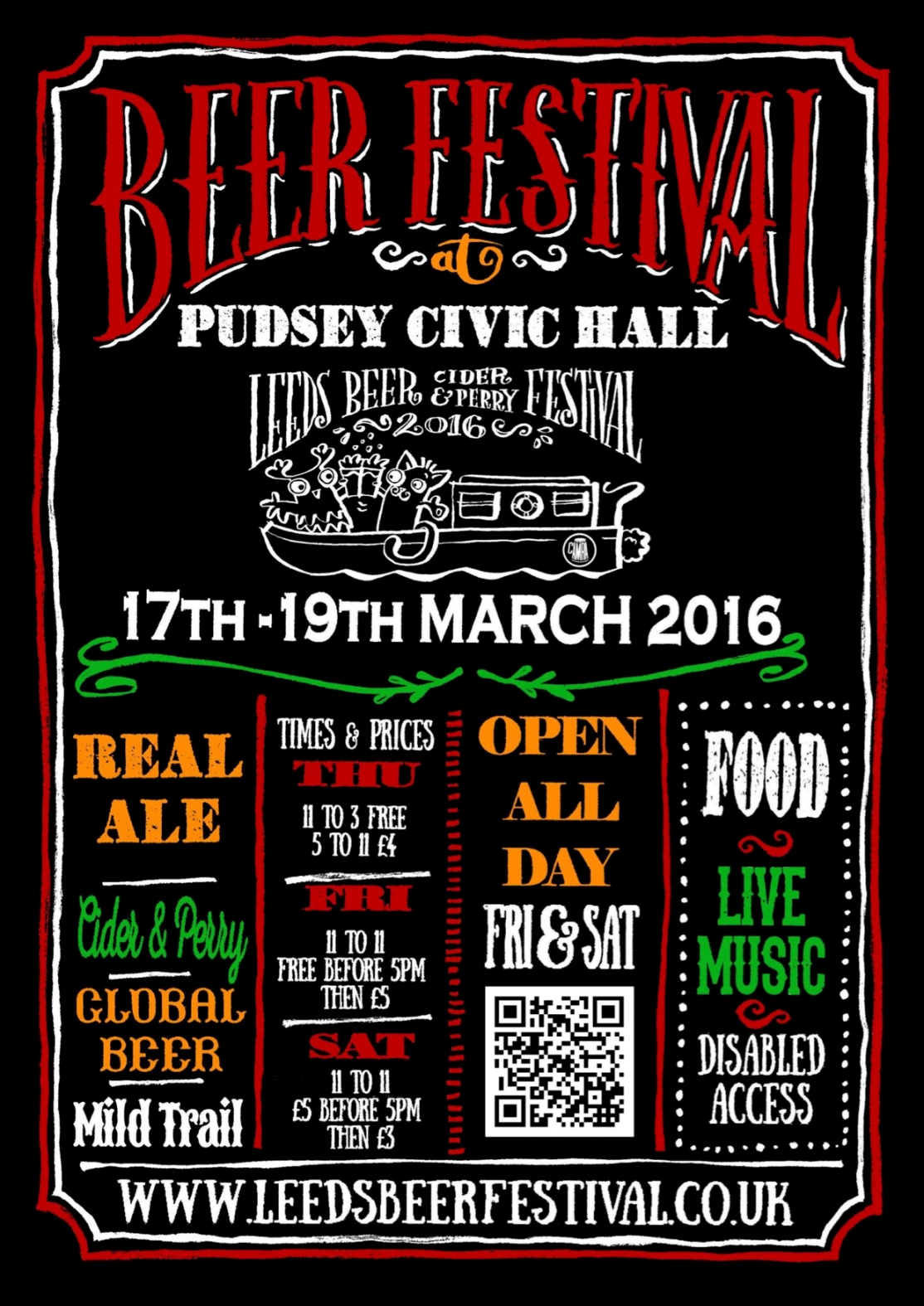 Leeds Beer Festival 2016 A4 POSTER (with bleed)