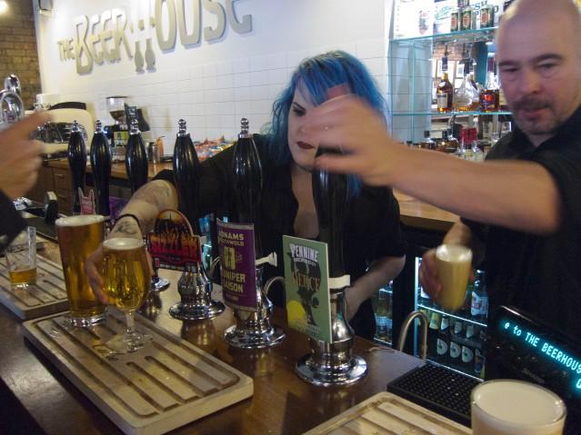 Beer house bartenders