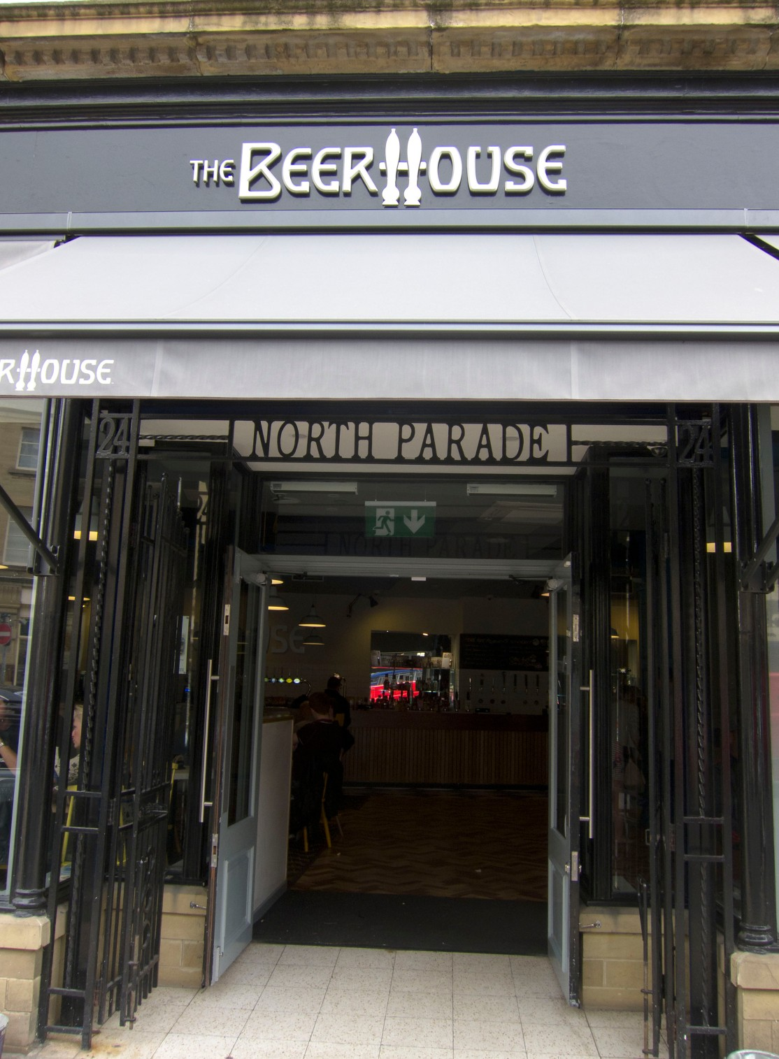 Beer house entrance