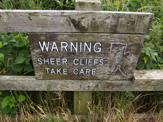 Filey cliffs