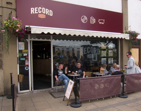 Record cafe outside