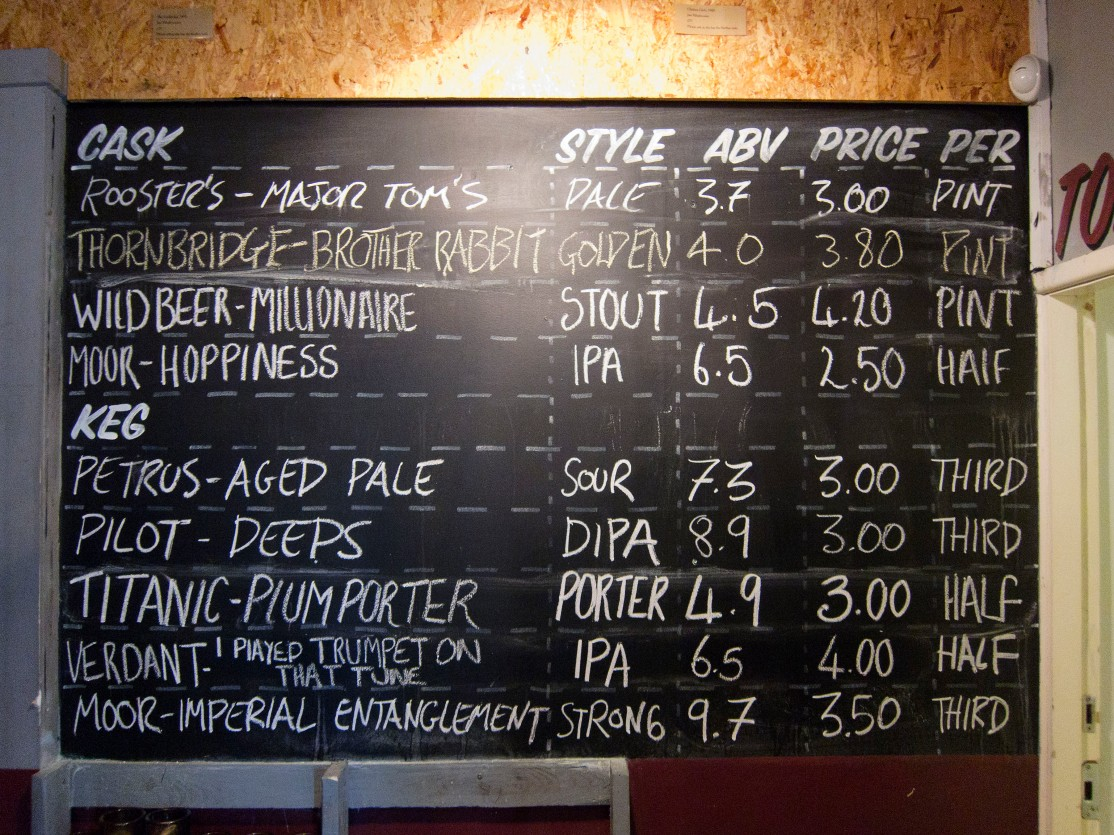 Major Tom's tap list